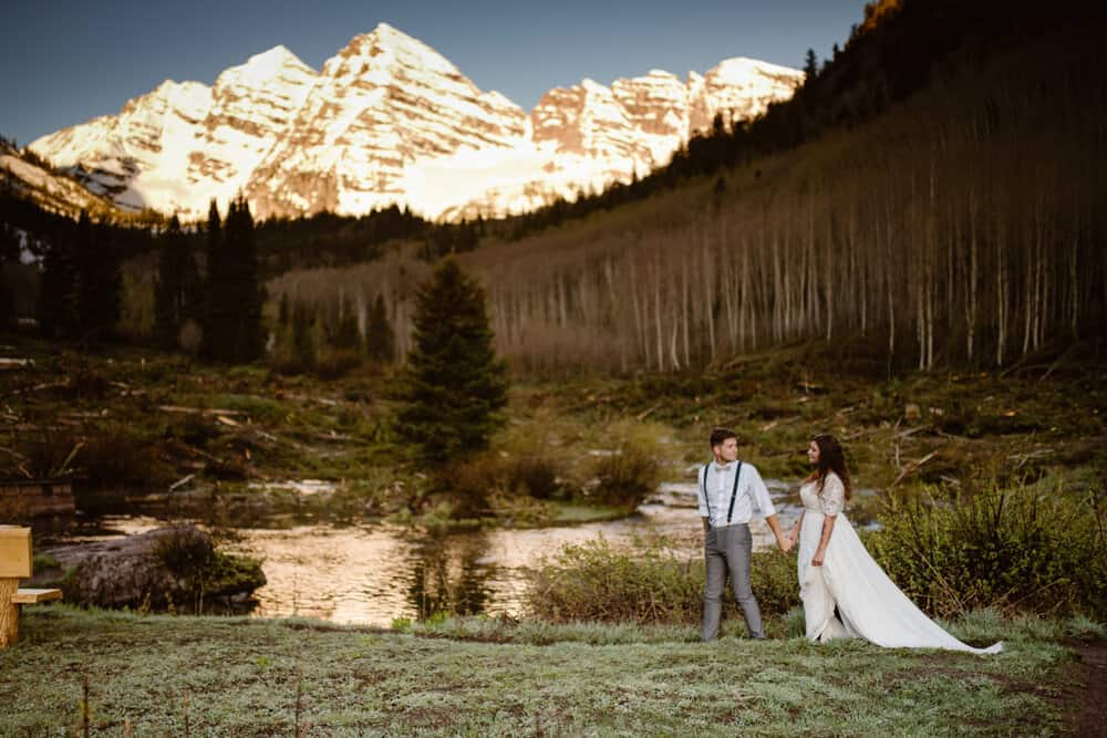 hiking-in-wedding-attire